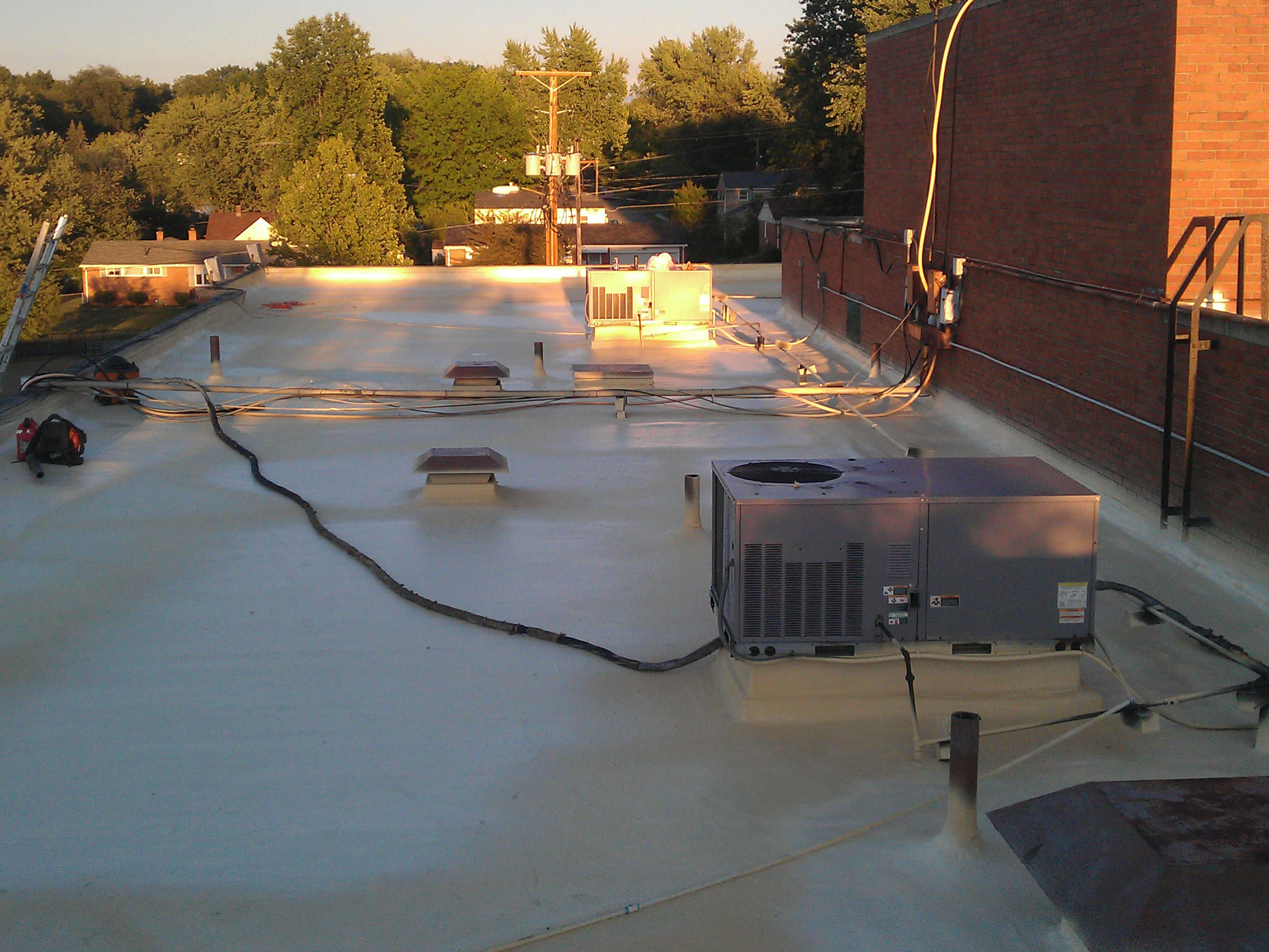 commercial roofing spray foam insulation