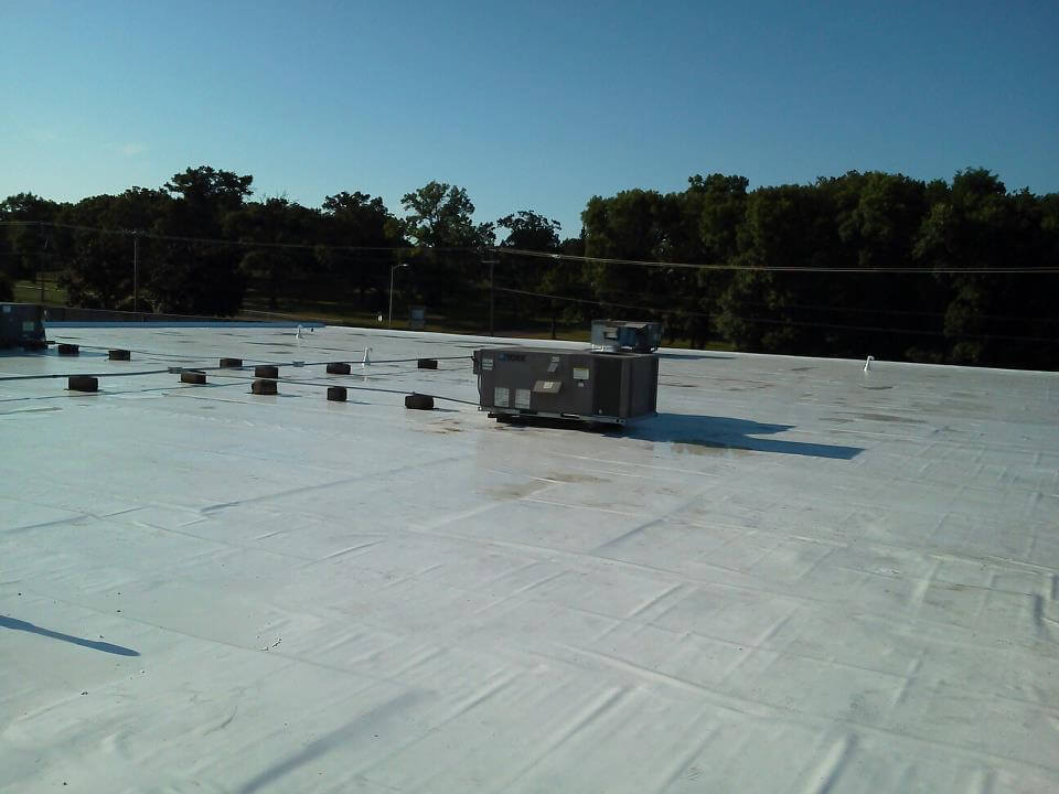 black commercial roof